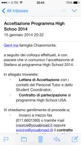 Accettazione e-mail